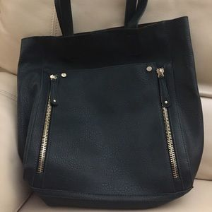 JUSTFAB Never Used Faux Leather/Suede Tote